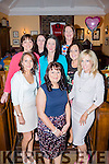 Celebrating her engagement with a girls night out was Louise Hennessy from Abbeyfeale, pictured here last Saturday night in Leen's Hotel, Abbeyfeale. F l-r Sinead Carmody, Louise Hennessy, Joanne O'Connor. B l-r: Emma Doyle, Mary Fitzgibbon, Karen Quirke, Caroline Keane and Breda Buckley.