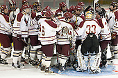 - The Boston College Eagles defeated the visiting Boston University Terriers 6-2 in ACHA play on Sunday, December 4, 2011, at Kelley Rink in Conte Forum in Chestnut Hill, Massachusetts.