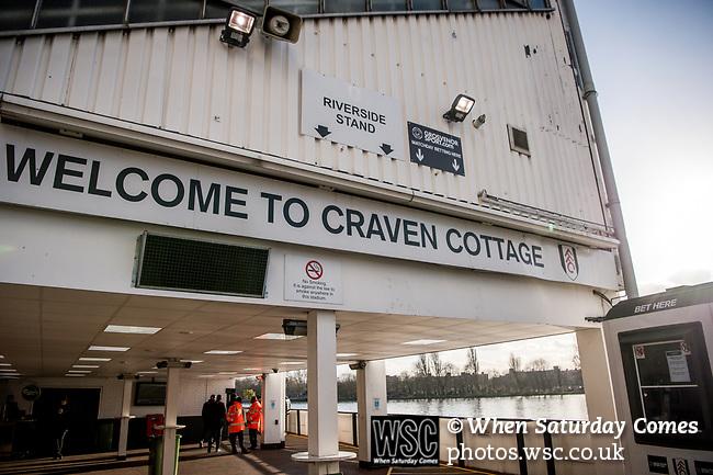 Fulham 2 Aston Villa 0, 17/02/2018. Craven Cottage, Championship. Photo by Simon Gill.
