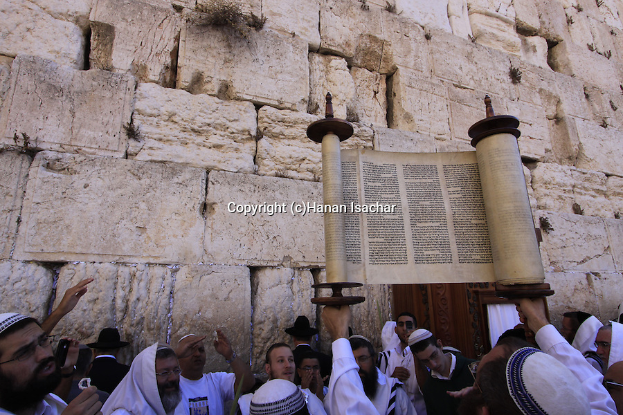 Israel, Jerusalem Old City, the Priestly Blessing ceremony at the Western Wall