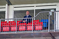 Sun 22 September 2013<br /> <br /> Pictured: Ian Holloway, manager of Crystal Palace sits high in the stands on his own during the first half of the match<br /> <br /> Re: Barclays Premier League Crystal Palace FC  v Swansea City FC  at Selhurst Park, London