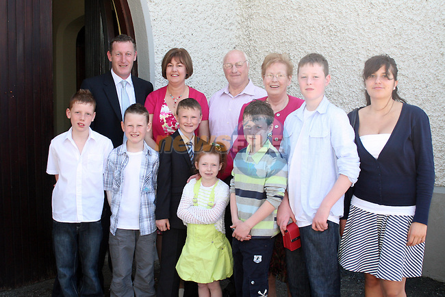 Brian Reilly with his family and friends at the Walshestown NS Communion in St.Pauls Church...Photo NEWSFILE/Jenny Matthews.(Photo credit should read Jenny Matthews/NEWSFILE)....This Picture has been sent you under the condtions enclosed by:.Newsfile Ltd..The Studio,.Millmount Abbey,.Drogheda,.Co Meath..Ireland..Tel: +353(0)41-9871240.Fax: +353(0)41-9871260.GSM: +353(0)86-2500958.email: pictures@newsfile.ie.www.newsfile.ie.FTP: 193.120.102.198.