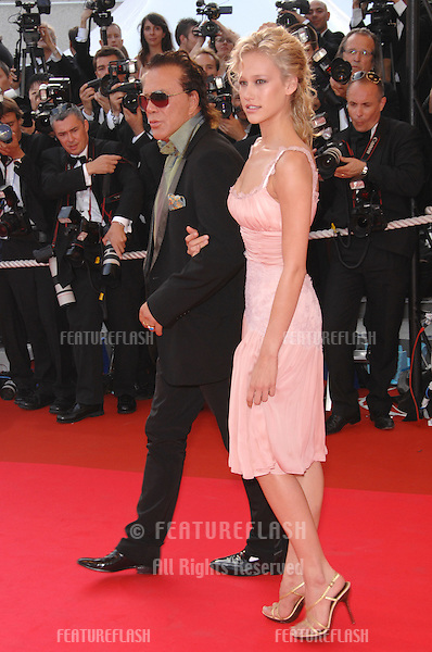 "Mickey Rourke & Christine Myers at world premiere for ""Ocean's Thirteen"" at the 60th Annual International Film Festival de Cannes..May 24, 2007  Cannes, France..© 2007 Paul Smith / Featureflash"