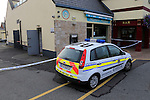Gardai in Drogheda seal off an area around the Tatch pub where robbers overnight tried to cut into the ATM using a gas torch setting it on fire and leaving empty-handed.<br /> Picture: www.newsfile.ie