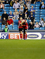 GOAL - Ipswich Town's Martin Waghorn gives the visitors the lead during the Sky Bet Championship match between Millwall and Ipswich Town at The Den, London, England on 15 August 2017. Photo by Carlton Myrie.