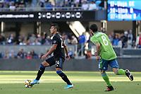 SAN JOSE, CA - SEPTEMBER 29: Nick Lima #24 of the San Jose Earthquakes during a Major League Soccer (MLS) match between the San Jose Earthquakes and the Seattle Sounders on September 29, 2019 at Avaya Stadium in San Jose, California.
