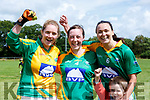 Elaine o'Sullivan, Cecilia O'sullivan and Caroline Kelly Southern Gaels winning the County Championship final in Listry on Sunday