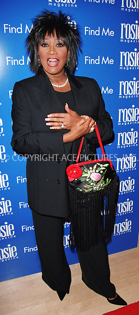 """PATTI LABELLE attends a party to celebrate """"Rosie"""" Magazine's first anniversary at International Center of Photography in New York. Popular TV personality Rosie O'Donnell is the editorial director of magazine.  April 16, 2002. Please byline: Alecsey Boldeskul/NY Photo Press.   ..*PAY-PER-USE*      ....NY Photo Press:  ..phone (646) 267-6913;   ..e-mail: info@nyphotopress.com"""