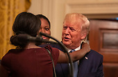 United States President Donald J. Trump greats supporters at the Young Black Leadership Summit 2019 at the White House in Washington, D.C. on Friday October 4, 2019.     <br /> Credit: Tasos Katopodis / Pool via CNP