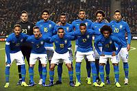 Brazil line up before Brazil vs Cameroon, International Friendly Match Football at stadium:mk on 20th November 2018