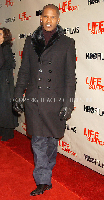 WWW.ACEPIXS.COM . . . . . ....March 5 2007, New York....Jamie Foxx attending the HBO Films screening of Life Support at Chelsea West Theater..... ..Please byline: KRISTIN CALLAHAN - ACEPIXS.COM.. . . . . . ..Ace Pictures, Inc:  ..(646) 769 0430..e-mail: info@acepixs.com..web: http://www.acepixs.com
