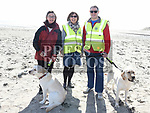 Hazel Spearman, Loreto Gregory and Michael Fitzsimons from the Lions Club at the sponsored dog walk in aid of Guide Dogs For The Blind on Termonfeckin beach. Photo:Colin Bell/pressphotos.ie