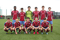 Mervue United team photo before the SSE Airtricity League U17 Cup Final against St. Patrick's Athletic.<br /> <br /> Aaron Connolly (At age 15) front row, centre.<br /> <br /> Mervue United v St. Patrick's Athletic, SSE Airtricity U17 Cup Final, 6/12/15, Blanchardstown IT, Dublin.