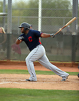 Jesus Aguilar - Cleveland Indians 2016 spring training (Bill Mitchell)
