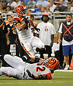 BRIAN LEONARD, of the Cincinnati Bengals in action during the Bengals game against the Detroit Lion on August 12, 2011 at Ford Field in Detroit, Michigan. The Lions beat the Bengals 34-3.