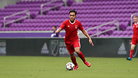 Orlando, Florida - Saturday January 13, 2018: Thomas Vancaeyezeele. Match Day 1 of the 2018 adidas MLS Player Combine was held Orlando City Stadium.