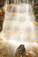 Little waterfall by the roadside on Bow Valley road<br /> Banff National Park<br /> Alberta<br /> Canada