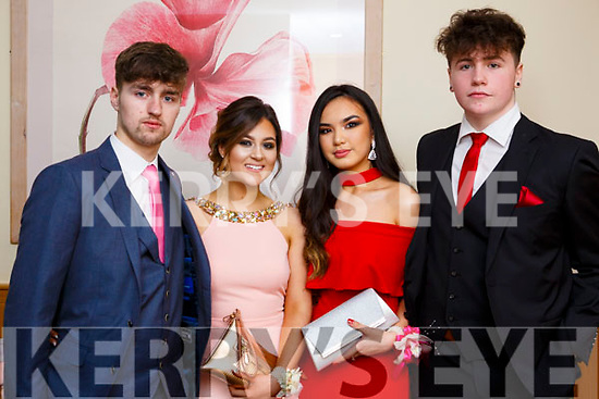Attending the Mercy Mounthawk debs in the Ballyroe Heights Hotel on Thursday night last, l to r, Dillion Fitzgerald, Chloe Hogan, Tamila Khussainava and Daniel Carton.