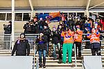Uppsala 2016-01-13 Bandy Elitserien IK Sirius - Bolln&auml;s GIF :  <br /> Bolln&auml;s supportrar jublar efter matchen mellan IK Sirius och Bolln&auml;s GIF <br /> (Foto: Kenta J&ouml;nsson) Nyckelord:  Bandy Elitserien Uppsala Studenternas IP IK Sirius IKS Bolln&auml;s GIF BGIF supporter fans publik supporters