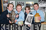 HISTORIANS: Pupils from Moyvane National School with some of the items in their new School Museum. L/r. Sarah O'Connor, Liam Corridan, Charlene Mulvihill and Martin Stack..