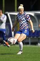 Beth England of Chelsea Ladies warms up ahead of Chelsea Women vs Manchester City Women, FA Women's Super League FA WSL1 Football at Kingsmeadow on 9th September 2018