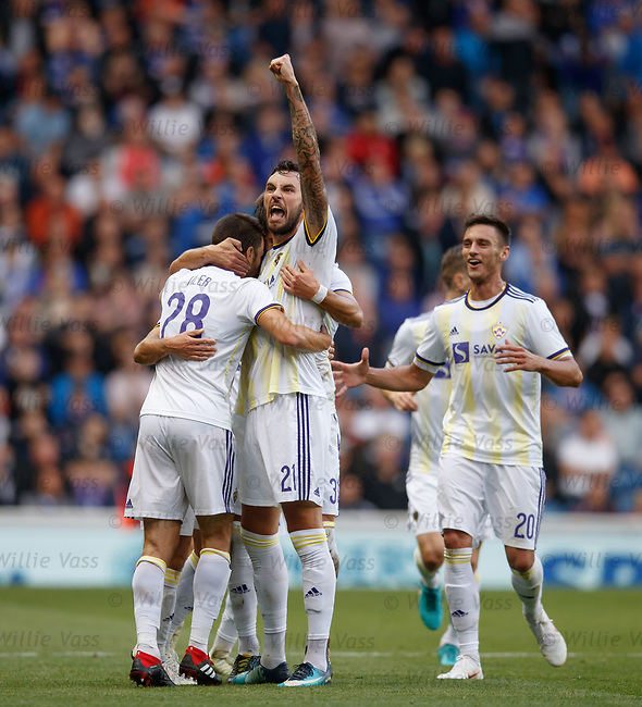 09.08.18 Rangers v Maribor: Maribor celebrate equaliser
