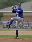 July 12, 2004:  Pitcher Casey Janssen of the Auburn Doubledays, Short-Season Single-A affiliate of the Toronto Blue Jays, during a game at Dwyer Stadium in Batavia, NY.  Photo by:  Mike Janes/Four Seam Images