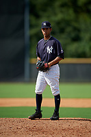 New York Yankees pitcher Deivi Garcia (31) gets ready to deliver a pitch during a Florida Instructional League game against the Philadelphia Phillies on October 11, 2018 at Yankee Complex in Tampa, Florida.  (Mike Janes/Four Seam Images)