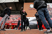A general view of The Kop end at Anfield, home of Liverpool as fans arrive ahead of kick-off<br /> <br /> Photographer Rich Linley/CameraSport<br /> <br /> UEFA Champions League Semi-Final 2nd Leg - Liverpool v Barcelona - Tuesday May 7th 2019 - Anfield - Liverpool<br />  <br /> World Copyright © 2018 CameraSport. All rights reserved. 43 Linden Ave. Countesthorpe. Leicester. England. LE8 5PG - Tel: +44 (0) 116 277 4147 - admin@camerasport.com - www.camerasport.com