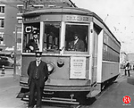 Pictured here is the last trolley that ran in Waterbury on May 24, 1937. It ran between Waterbury and Watertown. The motorman pictured is William McGee.