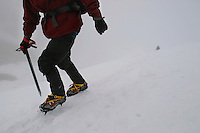 Steve Blaha and his virtual tour company, Enrich Media, climb Mt Hood in Oregon to photograph 360 degree views for a virtual tour that can be accessed via the internet.   (Photos by Anacleto Rapping ©2004)