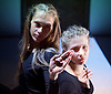 Burning Doors<br /> Belarus Free Theatre at The Soho Theatre, London, Great Britain <br /> press photocall <br /> 1st September 2016 <br /> <br /> Maryia Sazonava<br /> <br /> Maria Alyokhina<br /> <br /> Photograph by Elliott Franks <br /> Image licensed to Elliott Franks Photography Services