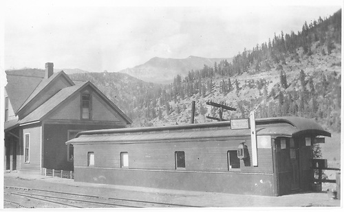 An early view of the RGS Vance Junction coach body depot and section house.<br /> RGS  Vance Junction, CO