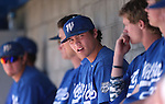 Wildcats watch the action from the dugout during a college baseball game at Western Nevada College in Carson City, Nev., on Thursday, March 5, 2015. <br /> Photo by Cathleen Allison/Nevada Photo Source