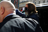 London, UK - 20 July 2020<br /> Johnny Depp attends libel trial against the Sun tabloid newspaper at The Royal Courts of Justice in London, England.<br /> CAP/GOL<br /> ©GOL/Capital Pictures