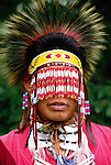Portrait of a Powwow fancy dancer, Washington, USA
