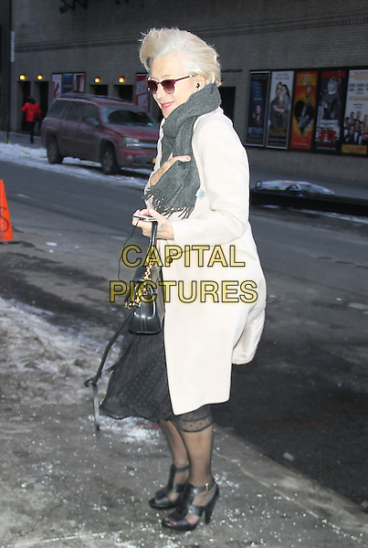 NEW YORK, NY - FEBRUARY 23: Helen Mirren at Late Show with David Letterman promoting her Broadway play The Audience on February 23, 2015 in New York City.<br /> CAP/MPI/RW<br /> &copy;RW/MPI/Capital Pictures