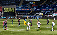 Players from both sides show their respect to the late  Jack Charlton with a minutes silence before the match<br /> <br /> Photographer Andrew Kearns/CameraSport<br /> <br /> The EFL Sky Bet Championship - Swansea City v Leeds United - Sunday 12th July 2020 - Liberty Stadium - Swansea<br /> <br /> World Copyright © 2020 CameraSport. All rights reserved. 43 Linden Ave. Countesthorpe. Leicester. England. LE8 5PG - Tel: +44 (0) 116 277 4147 - admin@camerasport.com - www.camerasport.com