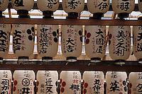 """Asie/Japon/Kyoto: Le temple """"Nishikikaji-dori"""" - Détail des lampions"""