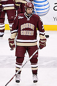 Carl Sneep (BC - 7) - The Boston College Eagles defeated the University of Vermont Catamounts 4-0 in the Hockey East championship game on Saturday, March 22, 2008, at TD BankNorth Garden in Boston, Massachusetts.