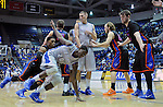 January 24, 2015 - Colorado Springs, Colorado, U.S. -   Air Force guard, Trevor Lyons #20, works to break free for an inbound pass during a Mountain West Conference match-up between the Boise State Broncos and the Air Force Academy Falcons at Clune Arena, U.S. Air Force Academy, Colorado Springs, Colorado.  Boise State defeats Air Force 77-68.