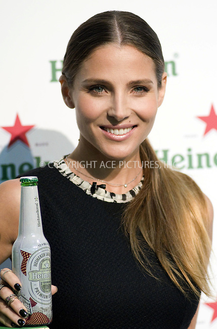 WWW.ACEPIXS.COM . . . . .  ..... . . . . US SALES ONLY . . . . .....September 16 2011, Madrid....Actress Elsa Pataky promores 'Your Heineken World Fashion Cities' at Cibeles Fashion Week at Ifema on September 16, 2011 in Madrid, Spain....Please byline: FD/ACE Pictures, Inc.... . . . .  ....Ace Pictures, Inc:  ..Tel: (212) 243-8787..e-mail: info@acepixs.com..web: http://www.acepixs.com