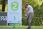 Pablo Larrazabal (ESP) tees off on the 2nd tee to start his round during the Final Day Sunday of the Open de Andalucia de Golf at Parador Golf Club Malaga 27th March 2011. (Photo Eoin Clarke/Golffile 2011)