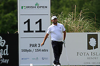 Alexander Levy (FRA) on the 11th tee during Round 2 of the Irish Open at Fota Island on Friday 20th June 2014.<br /> Picture:  Thos Caffrey / www.golffile.ie