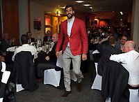 Pictured: Fernando Llorente walks to the stage to receive one of his awards Wednesday 18 May 2017<br />Re: Swansea City FC, Player of the Year Awards at the Liberty Stadium, Wales, UK.
