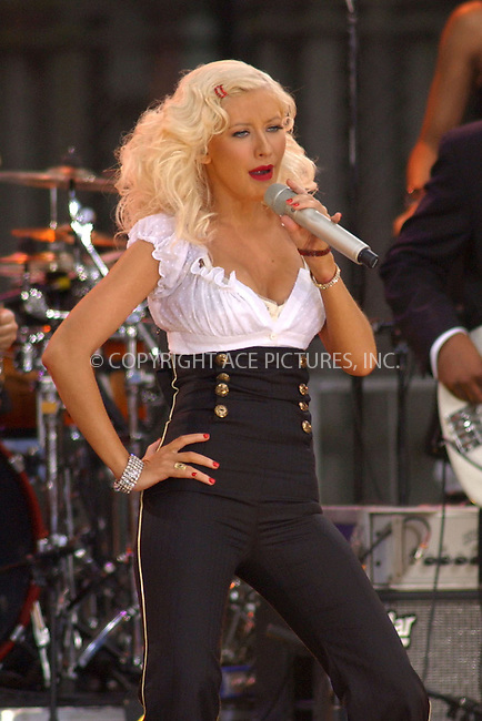 WWW.ACEPIXS.COM . . . . . ....August 16, 2006, New York City. ....Christina Aguilera performs on ABC's Good Morning America Concert. ....Please byline: KRISTIN CALLAHAN - ACEPIXS.COM.. . . . . . ..Ace Pictures, Inc:  ..(212) 243-8787 or (646) 769 0430..e-mail: info@acepixs.com..web: http://www.acepixs.com