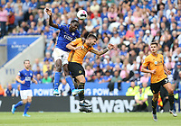 Leicester City's Wilfred Ndidi and Wolverhampton Wanderers' Ruben Neves <br /> <br /> Leicester City's Wilfred Ndidi and Wolverhampton Wanderers' Ruben Neves <br /> <br /> Photographer Stephen White/CameraSport<br /> <br /> The Premier League - Leicester City v Wolverhampton Wanderers - Sunday 11th August 2019 - King Power Stadium - Leicester<br /> <br /> World Copyright © 2019 CameraSport. All rights reserved. 43 Linden Ave. Countesthorpe. Leicester. England. LE8 5PG - Tel: +44 (0) 116 277 4147 - admin@camerasport.com - www.camerasport.com