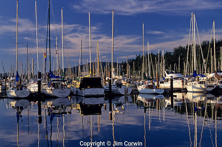 Cap Sante Boat Haven sailboats at marina Anacortes Washington State USA