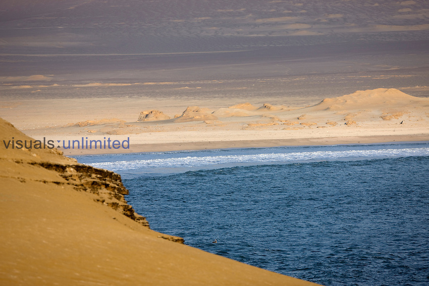 Desert and shoreline,  Paracas National Park, Peru