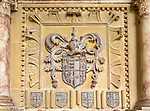 Coat of Arms on tomb of Sir John Sulyard died 1574, Wetherden church, Suffolk, England, UK